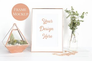 Rose Gold Frame Mockup- Terrarium