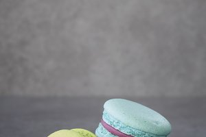 colourful french macaron vintage