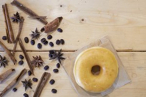 Donut with Cinnamon and star anise