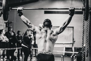 Crossfit Barbell Lift Black & White