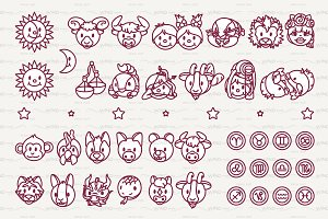 ♡ vector Horosope, Zodiac graphics