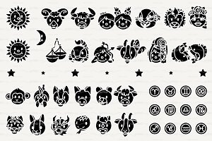 ♥ vector Horosope, Zodiac graphics