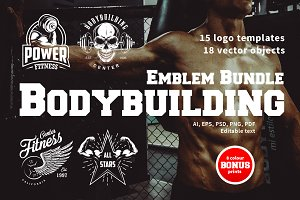 Bodybuilding logo templates