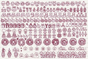 ❄ vector Christmas icons