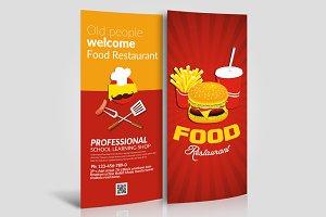 Food Menu Rack Card Template