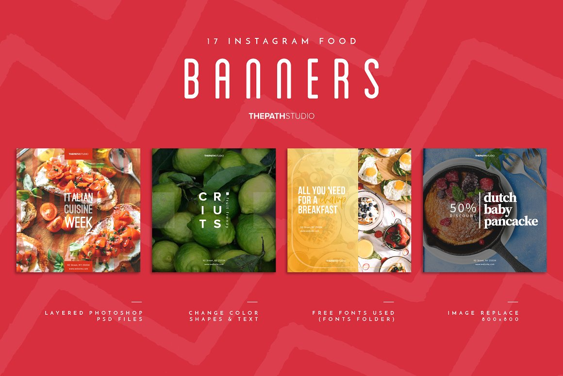 17 Instagram Food Banners