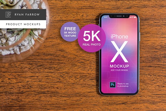 IPhone X Real Product Mockup 5K