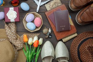 Items to travel Easter holiday.