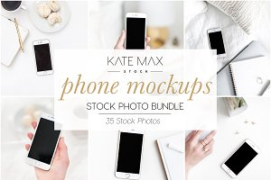 Phone Mockups Stock Photo Bundle