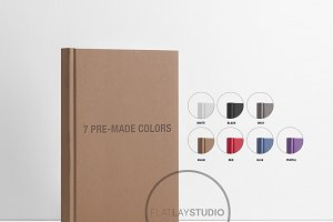 BOOK MOCKUP 7 COLORS #104