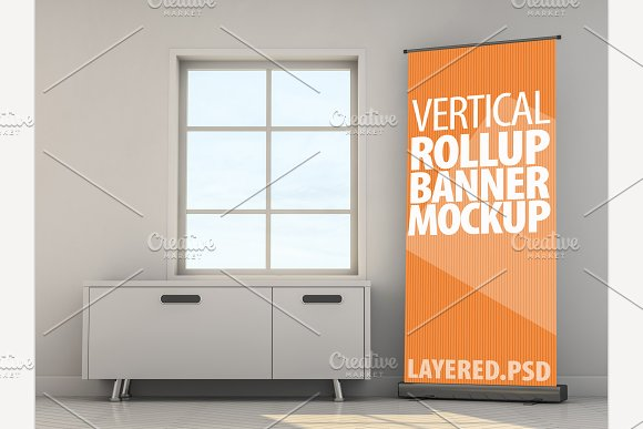 Roll Up Banner Mock-Up PSD