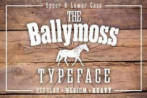 Ballymoss Woodblock Font