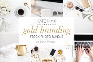 Gold Branding Stock Photo Bundle