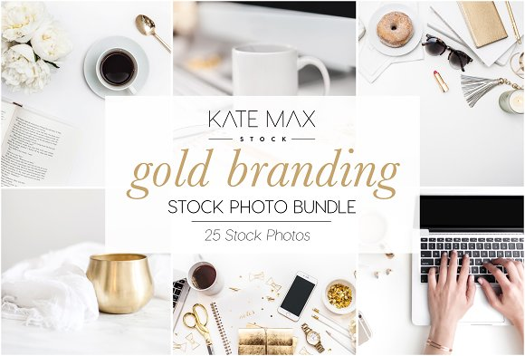 Gold Branding Stock Photo Bundle