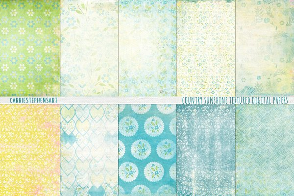 Shabby Chic Floral Digital Papers