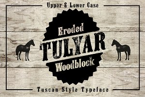 Tulyar Eroded Woodblock Font