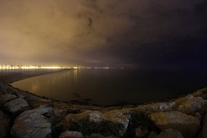 Valencia Bay at night