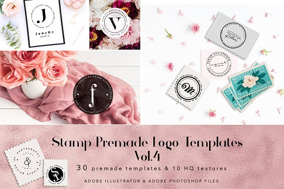 stamp premade logo templates vol 4 logo templates creative market