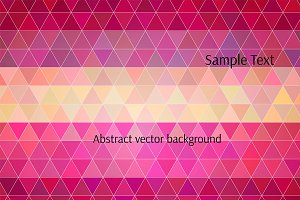 Vector polygon background