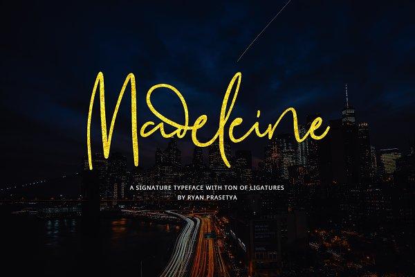 Madeleine Signature (+Webfont)