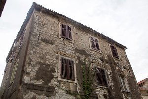 old building in Montenegro with Windows