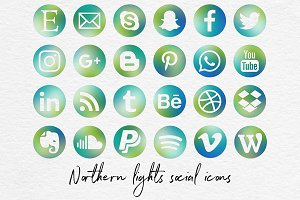 Social Media Icons - Northen Lights