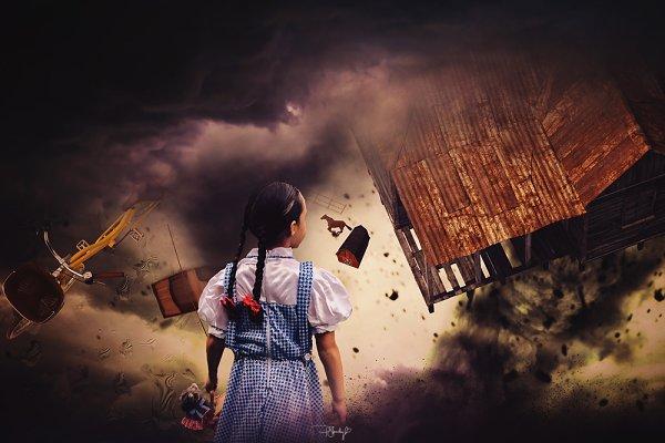 Digital Photo Backdrop Wizard of Oz