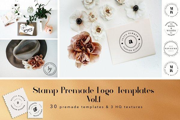 Stamp Premade Logo Templates Vol.1
