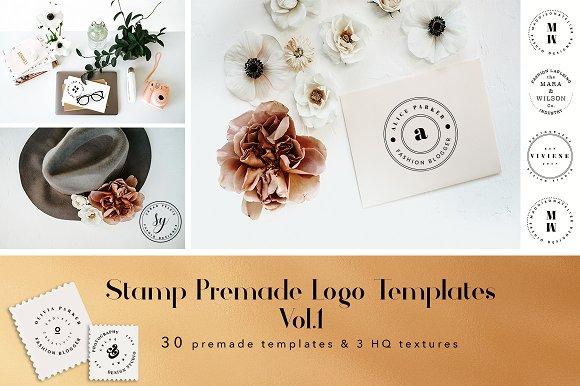 stamp premade logo templates vol 1 logo templates creative market