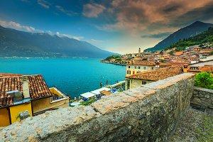 Limone sul Garda with lake Garda