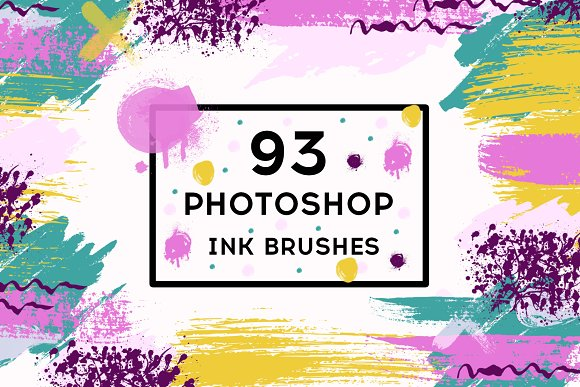Set 93 Photoshop Ink Brushes