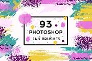 Set 93 Photoshop ink brushes