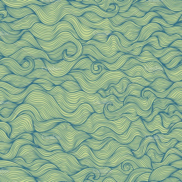 Doodle Wavy Seamless Pattern Graphic Patterns Creative Market Amazing Wavy Pattern