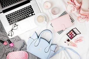 Fashion blogger workspace