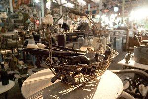 Antique shop in Indonesia.