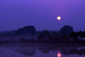 Sunrise Dawn Blue