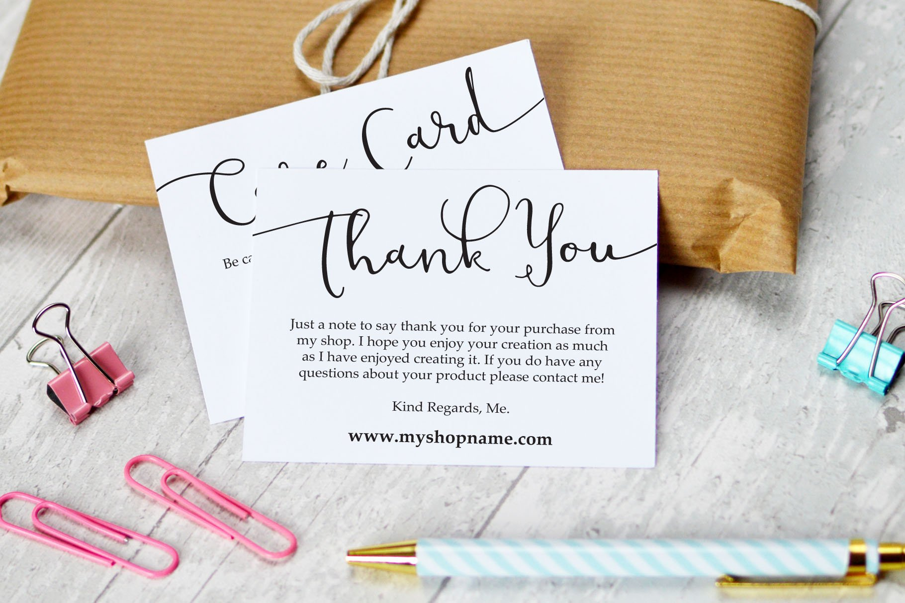 business thank you  care cards  creative stationery