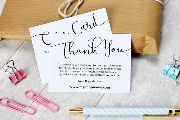 Business Thank You Care Cards