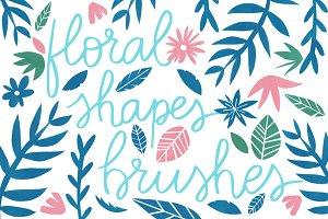 Floral shapes brushes