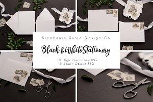 Black & White Stationery Lay Flat