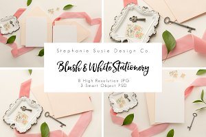 Blush Stationery Layflat Mock Up