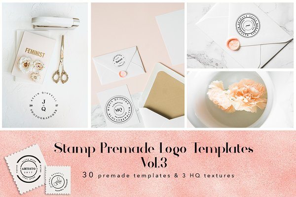 Stamp Premade Logo Templates Vol.3