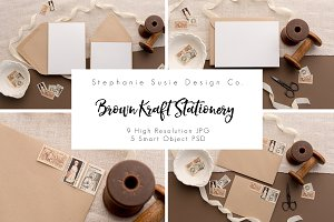 Kraft Paper Stationery Lay Flat