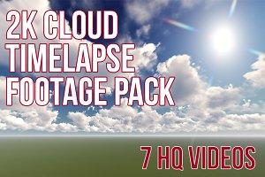2K Cloud Timelapse Footage Pack