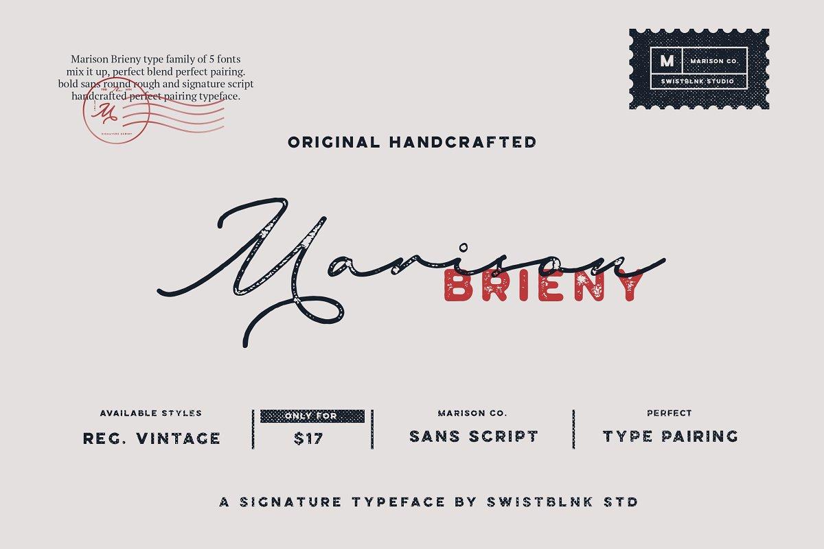 04d0ba26e Marison Type Collection ~ Display Fonts ~ Creative Market