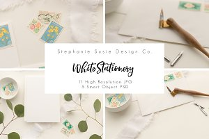 White on White Stationery Mock Up