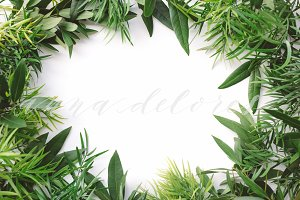 Styled Stock Photo, Green Wreath
