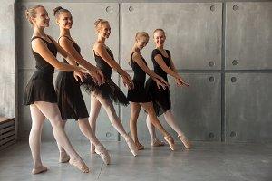 Young beautiful ballerinas