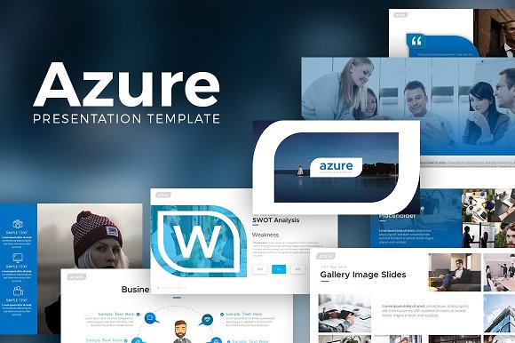 Azure Powerpoint Template