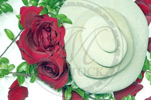 Zen Rocks and Roses
